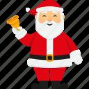 bell, character, christmas, cute, santa, santa claus, xmas icon