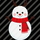 character, scarf, christmas, cute, xmas, snowman