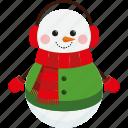 character, christmas, cute, scarf, snowman, xmas