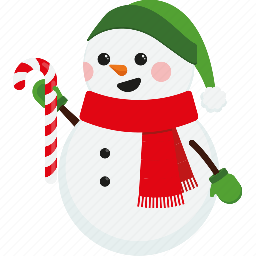 Christmas Cute Scarf Snowman Xmas Icon