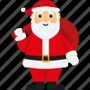 bag, character, christmas, cute, santa, santa claus, xmas icon