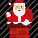 character, chimney, christmas, cute, santa, santa claus, xmas icon