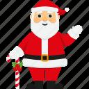 candy cane, character, christmas, greeting, santa, santa claus, xmas icon