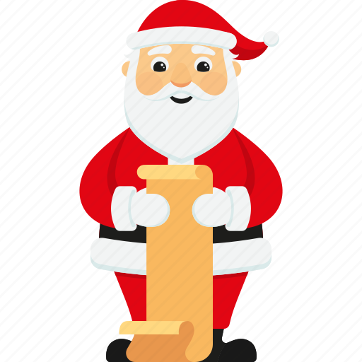 character christmas cute gift list santa santa claus xmas icon