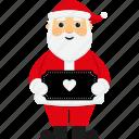 character, christmas, heart, santa, santa claus, sign, xmas