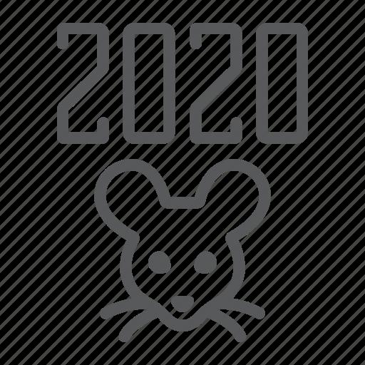 celebration, mouse, new, rat, xmas, year icon