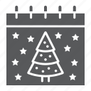 calendar, christmas, date, december, new, tree, year icon