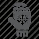 christmas, clothes, glove, mitten, snowflake, winter, xmas icon