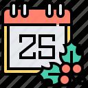 calendar, christmas, event, schedule, xmas icon