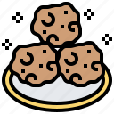 bakery, cookies, dessert, food, snack icon
