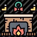 christmas, fireplace, interior, winter, xmas