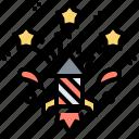 anniversary, celebration, festival, firework, rocket icon