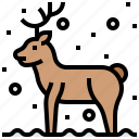animal, christmas, deer, reindeer, santa icon