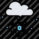 christmas, cloud, snow, snowflake, winter icon