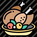 chicken, dinner, food, meal, turkey