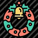 christmas, decoration, merry, wreath, xmas