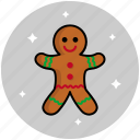 christmas, cookie, gingerbread, new year icon