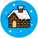 christmas, home, house, snow, winter icon