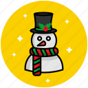christmas, cold, snow, snowman, winter