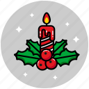 candle, christmas, christmas candle, decoration, light icon