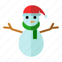 christmas, new year, snow statue, snowflake, winter icon