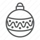 xmas, ball, decorative, christmas, tree, bauble icon