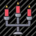 church, christmas, decoration, candles, candelabra icon