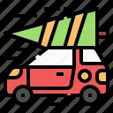 christmas, ornament, car, decoration, tree
