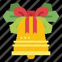 bells, jingle, ribbon, alarm icon