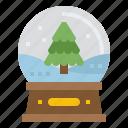 snow, globe, ornament, decoration, christmas, xmas, snow globe