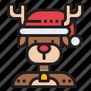 reindeer, rudolph, deer, christmas, xmas icon