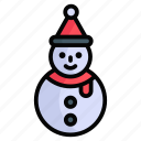 snowman, christmas, winter, snow, xmas, decoration, celebration
