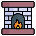 firehouse, flame, winter, emergency, chimney, house, christmas