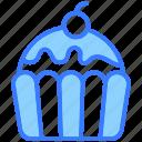 cupcake, dessert, muffin, sweet, cake, pastry, cherry