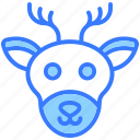 deer, animal, reindeer, wildlife, winter, christmas, decoration