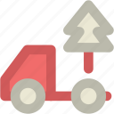 delivery truck, planting service, shipping truck, tree, tree delivery icon