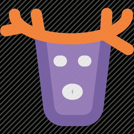 Animal head, christmas reindeer, deer head, elk, moose head, reindeer head, rudolf icon - Download on Iconfinder