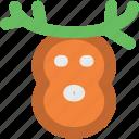 animal head, christmas reindeer, deer head, elk, moose head, reindeer head, rudolf