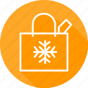bag, christmas, festival, holiday, shopping, vacation icon