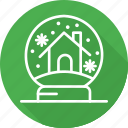 christmas, festival, globe, holiday, snow, vacation icon