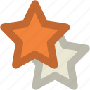 night, shining stars, sky, star ornament, stars icon