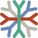 christmas snowflake, ice flake, snow falling, snowflake, winter decoration icon