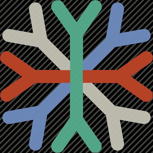 christmas snowflake, ice flake, snow falling, snowflake, winter decoration icon