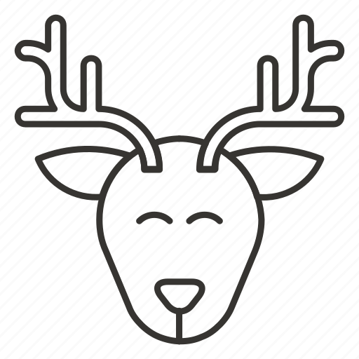 animal, christmas, deer, reindeer, santa, xmas icon