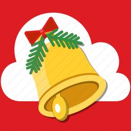 alarm, bell, bow, christmas, decoration, holiday, jingle icon