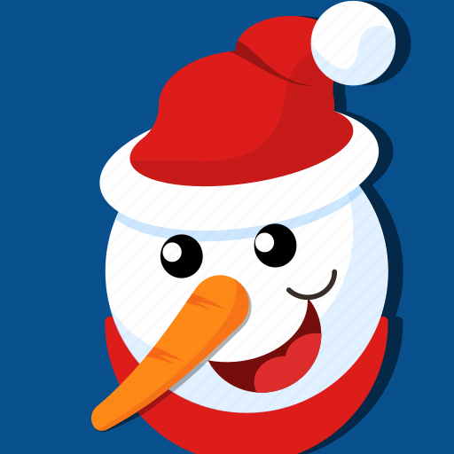 carrot, christmas, face, snow, winter, xmas icon