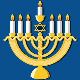 candles, celebration, hanukkah, holiday, jewish, menorah, religious icon