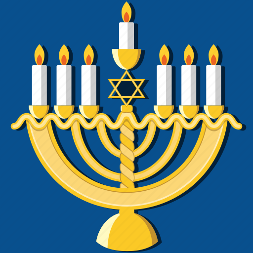 candles, celebration, hanukkah, holiday, jewish, menorah, religious icon