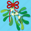 celebration, christmas, decoration, kiss, leaf, mistletoe, wish icon