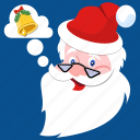beard, bell, christmas, claus, hat, jingle, santa icon
